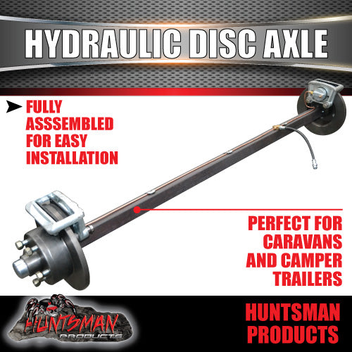 Hydraulic disc Braked Axle 40mm Square. 1000kg Rated.