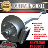 1400Kg Galvanised Mechanical Disc Gullwing Boat Trailer Axle