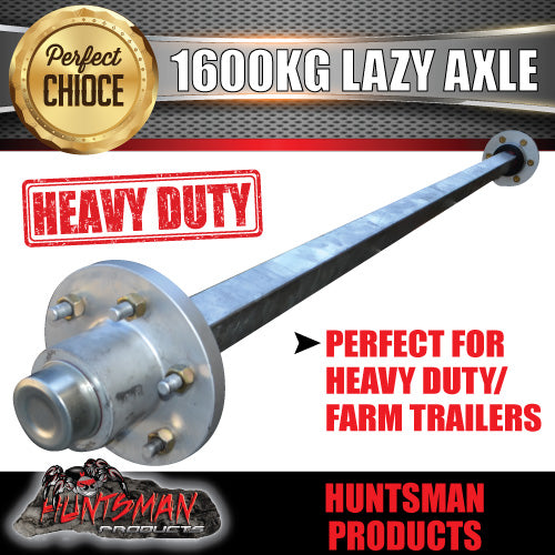 50mm square 1600Kg Lazy 6 Stud Landcruiser Pattern Solid Axle