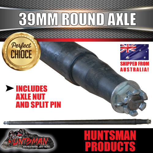 "TRAILER AXLE 39MM ROUND ,77"". 1955MM. 750KG"