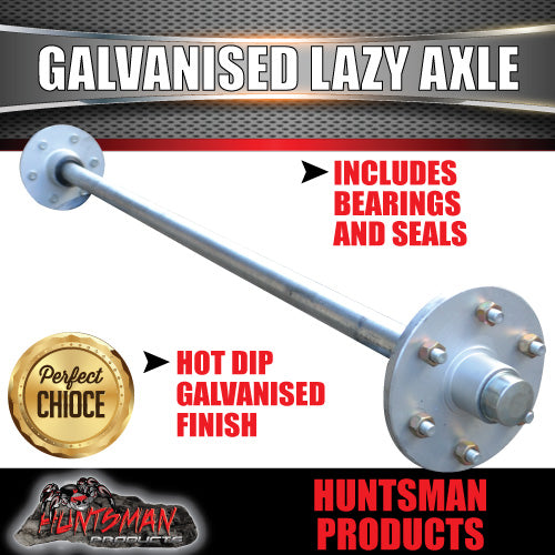 Lazy 6 Stud Trailer Axle 39mm Round Galvanised 60-77