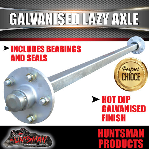 "Lazy 5 Stud Trailer Axle 40mm SQ Galvanised 63-79"" Axles 1000KG"
