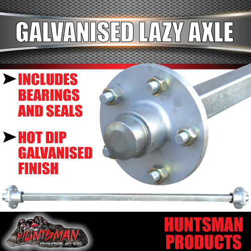 Lazy 5 Stud Trailer Axle 40mm SQ Galvanised 63-79