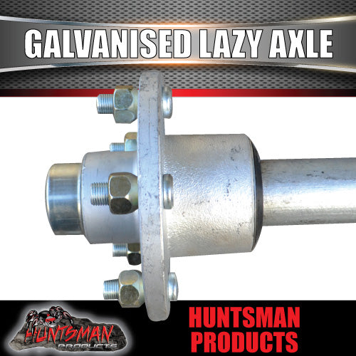 "Lazy 5 Stud Trailer Axle 39mm Round Galvanised 60-77"" Axles 750KG"