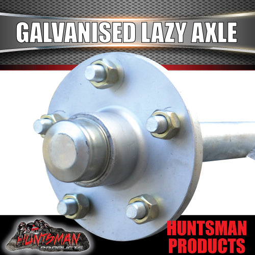 Lazy 5 Stud Trailer Axle 39mm Round Galvanised 60-77