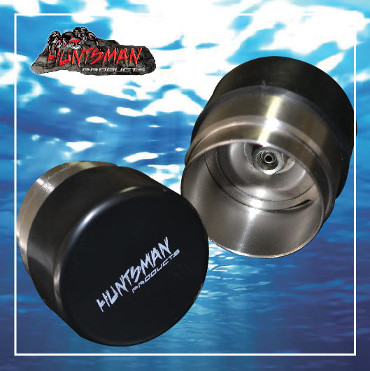 2X 45mm ALL STAINLESS STEEL TRAILER BEARING PROTECTORS.  BEARING BUDDYS