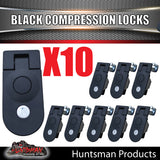 x10 Large Black Compression Lock Rounded End.