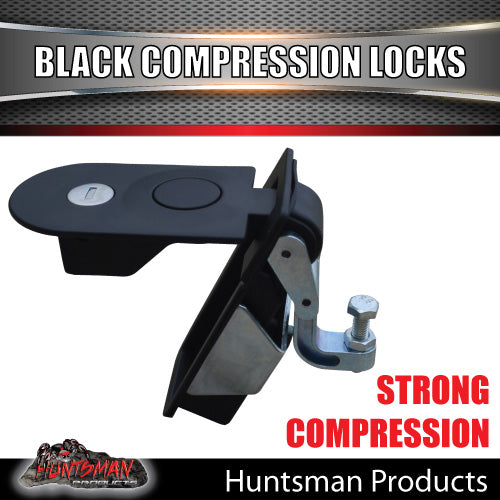 x2 Large Black Compression Lock Rounded End.