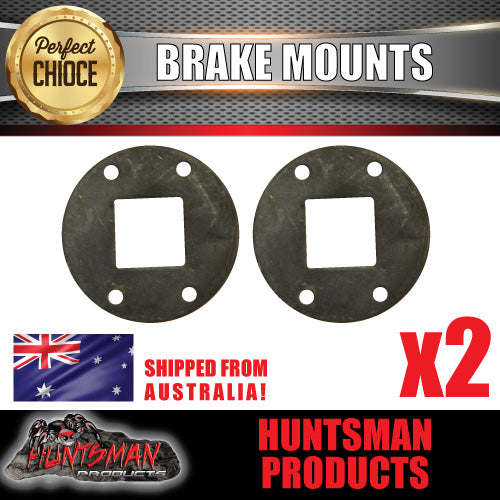 TRAILER BRAKED AXLE HYDRAULIC FLANGE SUIT 40MM OR 45MM AXLE BRAKE PLATE MOUNTING WELD ON