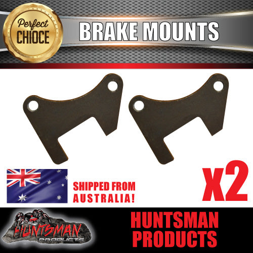 "TRAILER BRAKES 10"" DISC FLANGE TO SUIT 40MM OR 45MM  AXLE, BRAKE PLATE, MOUNTING, WELD ON"
