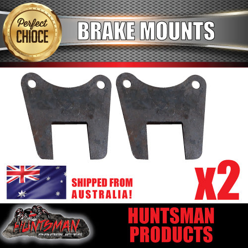 "TRAILER BRAKES 12"" DISC FLANGE TO SUIT 40MM, 45MM OR 50MM  AXLE, BRAKE PLATE, MOUNTING, WELD ON"