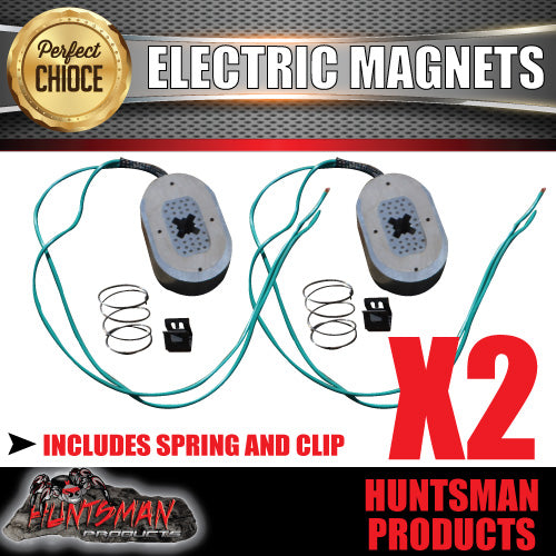 "2x Trailer Electric Brake Magnets Suit 12"" Backing Plate Caravan Camper Pair"