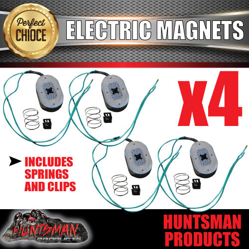 "4x Trailer Electric Brake Magnets Suit 12"" Backing Plates"