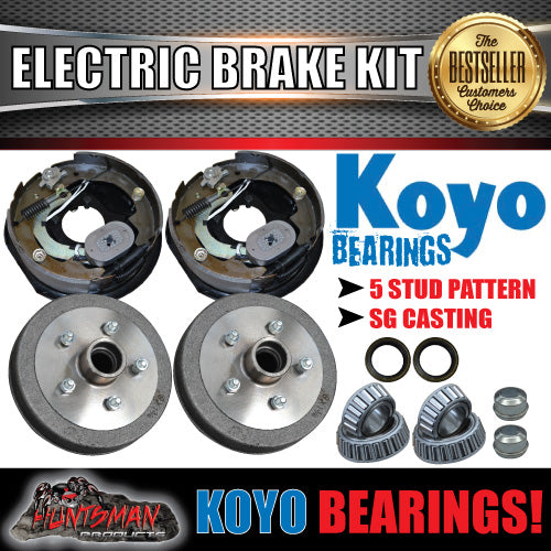 "10"" Trailer Electric Brake Kit & Japanese Bearings!"