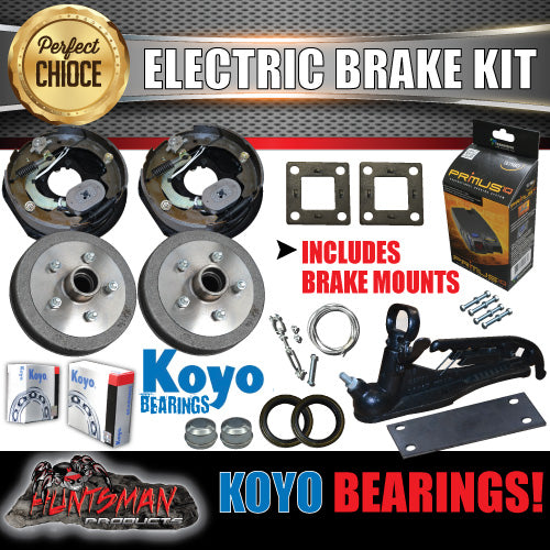 "10"" Trailer Electric Brake & Coupling Kit & IQ Controller Koyo bearings."