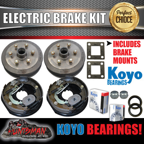 "10"" 6 Stud Trailer Electric Brake Kit & Japanese Bearings!"