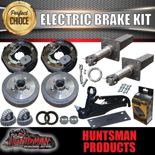 "10"" Parallel Trailer Electric Brake & Stub Axle Kit inc Coupling Kit & IQ Controller"