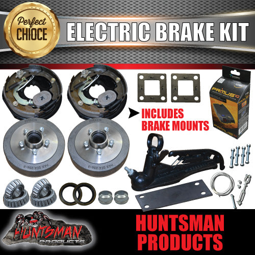 "10"" Parallel Trailer Electric Brake Kit inc Coupling Kit & IQ Controller"