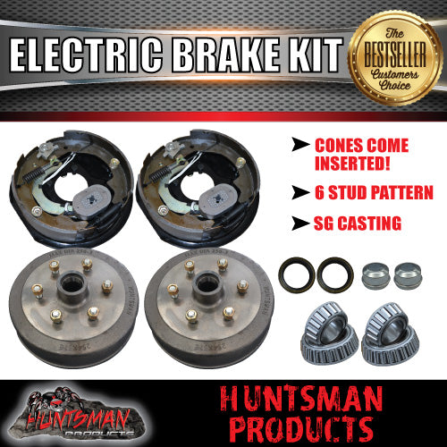 "10"" 6 Stud Trailer Electric Drum Brake Kit"