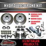 "12"" Trailer 5 Stud Hydraulic Disc Brake Kit With Full coupling & hyd Line kit suit Landcruiser stud pattern"