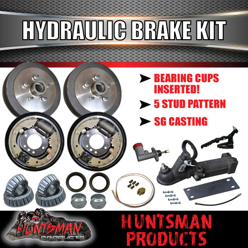 "9"" HYDRAULIC TRAILER BRAKE & COUPLING KIT"