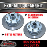 "12"" Galvanised 6 Stud Boat Trailer Mechanical Disc Brake Kit. KOYO Bearings"
