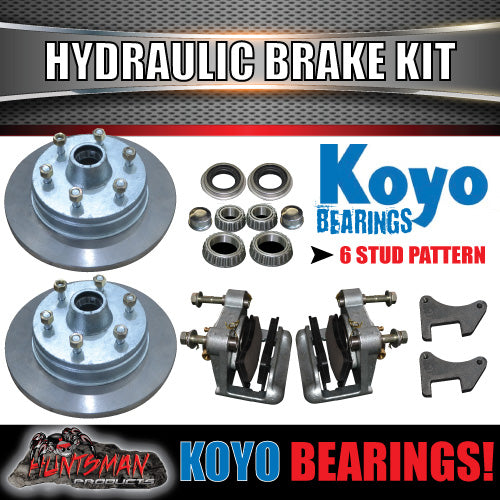 "12"" 6 STUD  HYDRAULIC DISC TRAILER BRAKE KIT & JAP BEARINGS. 6/139.7PCD"