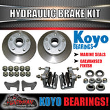 "10"" 5 Stud Hydraulic Disc Brake Kit With Japanese Bearings"