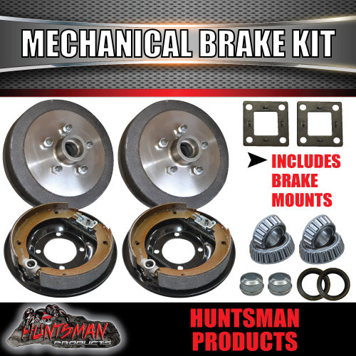 "9"" Mechanical Drum Trailer Brake Kit. S.G Cast Drums."