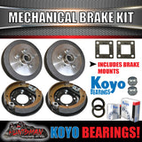 "9"" Mechanical Drum Trailer Brake Kit inc Japanese Bearings & S.G Cast Drums"