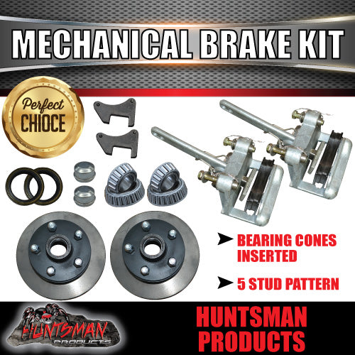 Mechanical Disc Brake Kit. Natural Discs