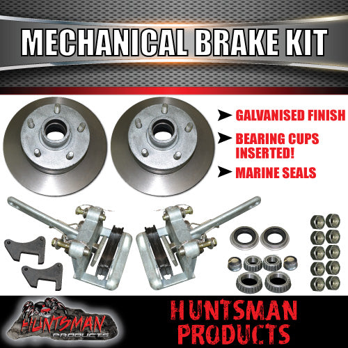 Galvanised Trailer Mechanical Disc Brake Kit.