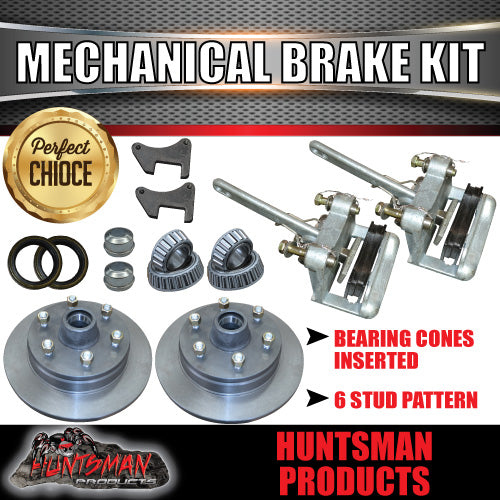 "12"" 6 Stud Trailer Mechanical Disc Brake Kit"