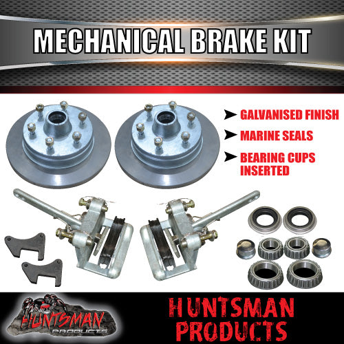 "12"" Galvanised 6 Stud Boat Trailer Mechanical Disc Brake Kit"