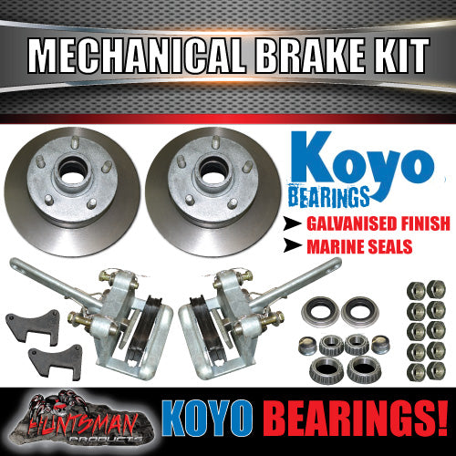 Galvanised Trailer Mechanical Disc Brake Kit with Japanese Bearings