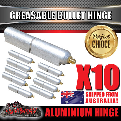x10 100mm x 16mm Aluminium Greasable Bullet Hinges