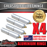 x4 80mm x 13mm Aluminium Greasable Bullet Hinges