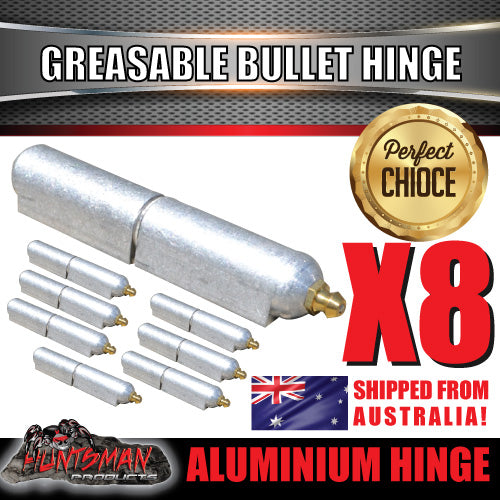 x8 80mm x 13mm Aluminium Greasable Bullet Hinges