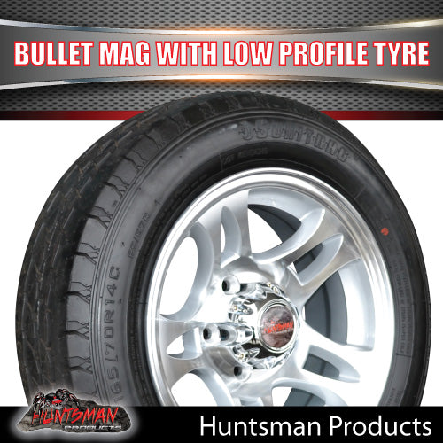 Low Profile Ford pattern Bullet Alloy & 175/65R14C Tyre