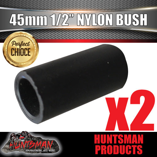 "X2 nylon spring bushes 45mm x 1/2"" 13mm hole for trailer suspension"
