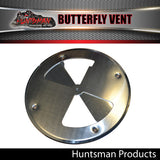 x2 Aluminium Butterfly Vents 197mm diameter