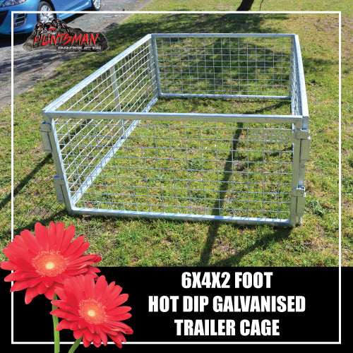 TRAILER CAGE 6X4X2FT.  FULLY GALVANISED. BOX TUBING!