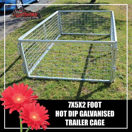 TRAILER CAGE 7X5X2FT.  FULLY GALVANISED. BOX TUBING!