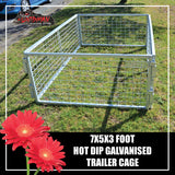 TRAILER CAGE 7X5X3FT.  FULLY GALVANISED. BOX TUBING!