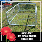 TRAILER CAGE 8X5X3FT.  FULLY GALVANISED. BOX TUBING!