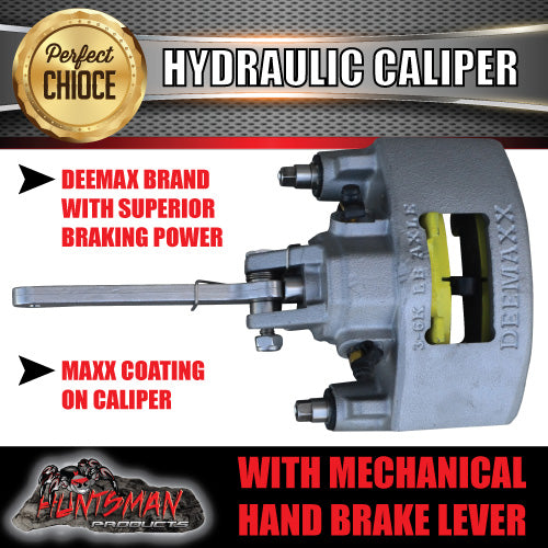 Pair Deemaxx Hydraulic Disc Brake Calipers with mechanical park brake levers.