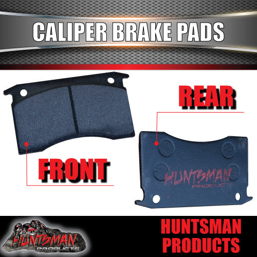 4x BOAT TRAILER MECHANICAL OR HYDRAULIC CALIPER DISC BRAKE PADS.
