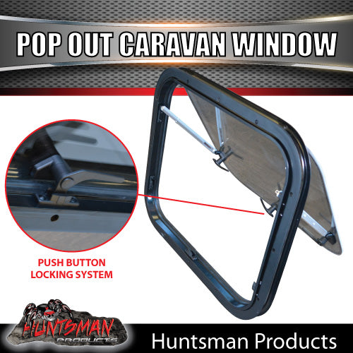 500mm x 550mm Caravan Push Out Window