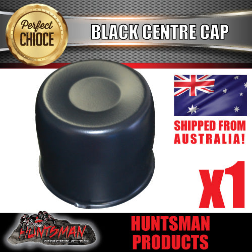 BLACK WHEEL CENTRE CAP- 107MM