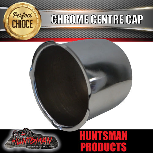CHROME WHEEL CENTRE CAP- 107MM